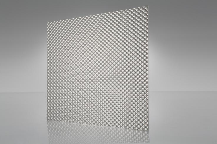 Acrílico prismático OPTIX patrón 12 (PL-21) plateado