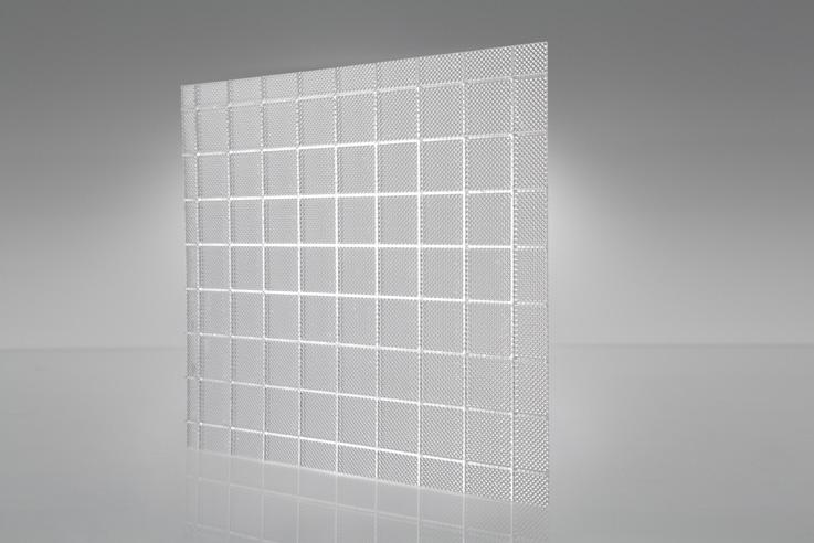 Cuadrados prismáticos - Transparente