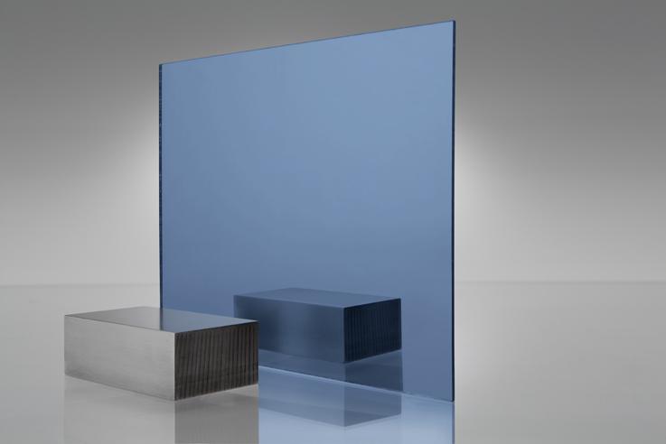 Espejo transparente 1000 azul