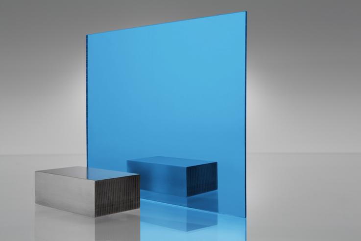 Espejo transparente 2069 azul
