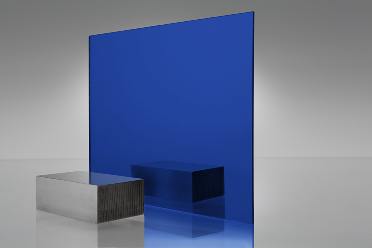 Acrílico de espejo transparente azul - 2424