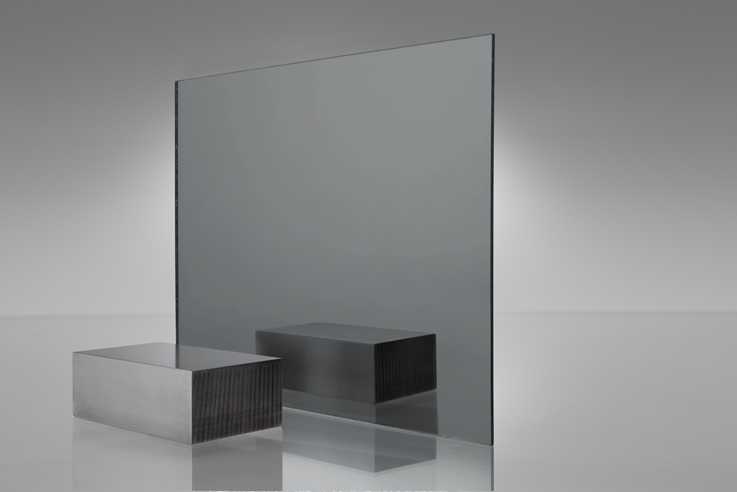 Acrílico de espejo transparente gris humo - 1050