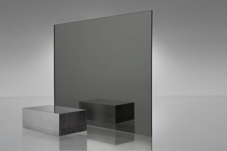 Acrílico de espejo transparente gris humo - 2064