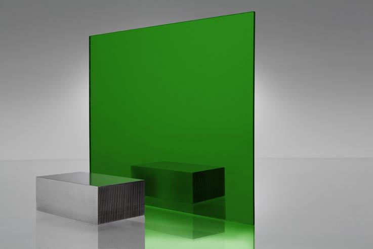 Espejo transparente 4674 verde