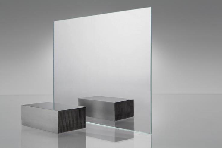 Espejo transparente 3030 bordes verdes