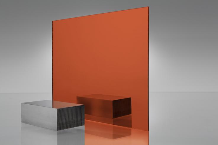 Espejo transparente 1119 anaranjado