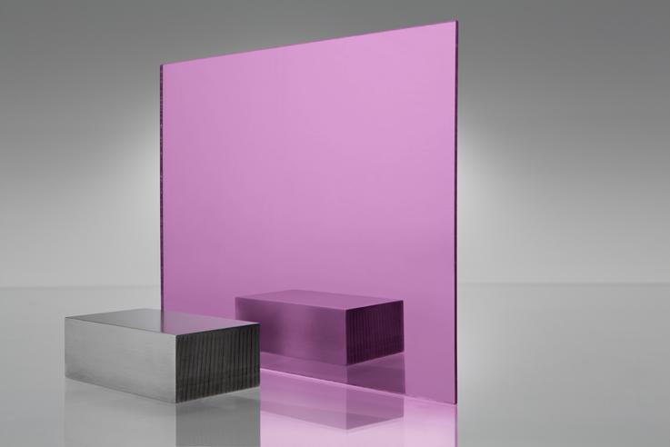 Acrílico de espejo transparente 1450 rosa