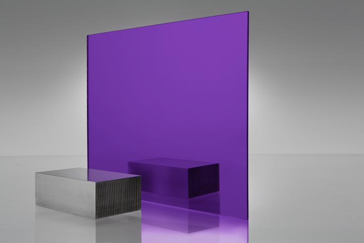Espejo transparente 1020 morado