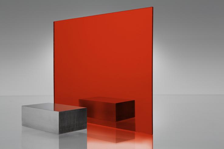 Espejo transparente 1310 rojo