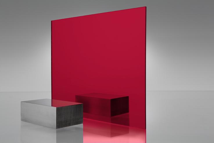 Espejo transparente 1400 rojo