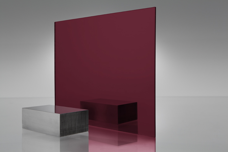 Espejo transparente 2423 rojo