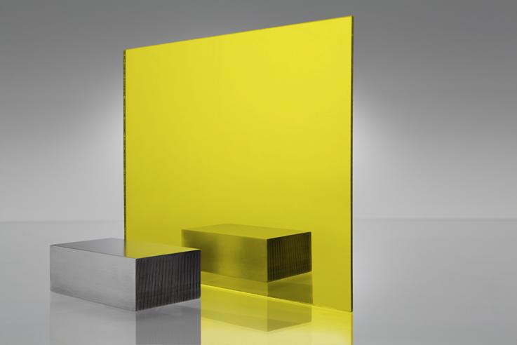 Espejo transparente 2208 amarillo